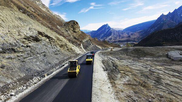 Дорога, соединящая горные районы Чечни и Дагестана