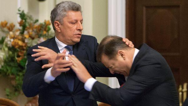 Драка лидера фракции Оппозиционный блок в Верховной раде Юрия Бойко с главой Радикальной партии Олегом Ляшко. 14 ноября 2016