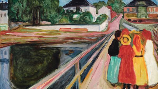 Эдвард Мунк. Девушки на мосту. 1902