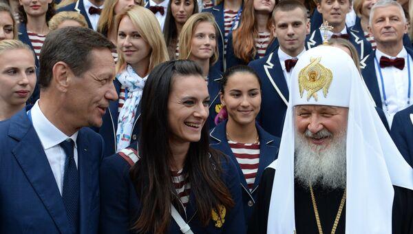 Патриарх Московский и всея Руси Кирилл совершил напутственный молебен для российской олимпийской сборной