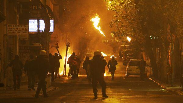 Беспорядки в Афинах. Архивное фото