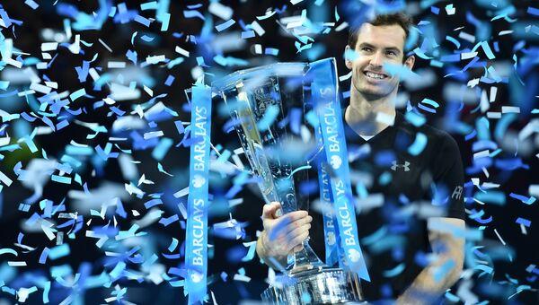 Британец Энди Маррей после победы в финале итогового турнира ассоциации теннисистов-профессионалов (АТР) в Лондоне. 20 ноября 2016