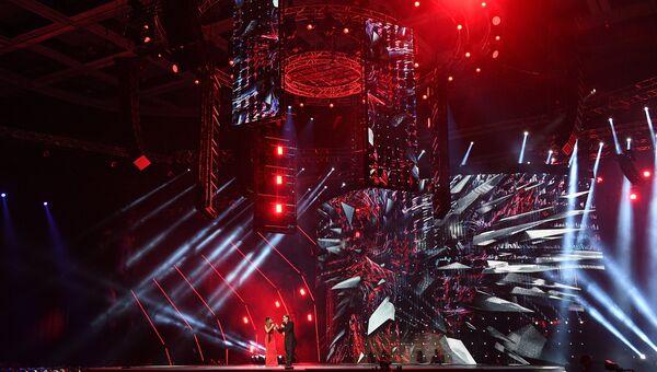 Певцы Ани Лорак и Григорий Лепс на XXI Церемонии вручения национальной музыкальной премии Золотой Граммофон
