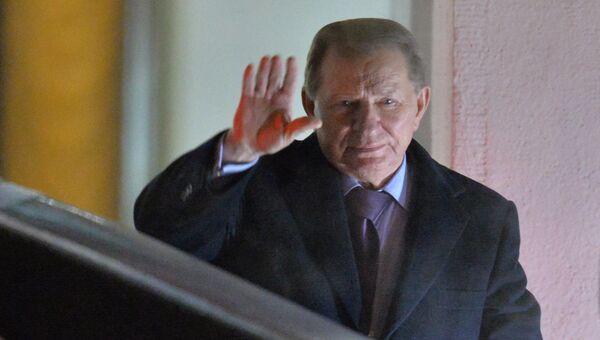 Представитель от Украины в контактной группе по Донбассу Леонид Кучма в Минске