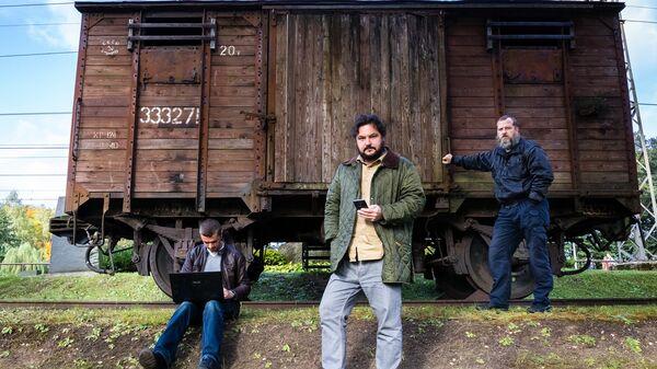 Латышские блоггеры Алексей Стетюха, Валентин Роженцов и Робертс Вицупс