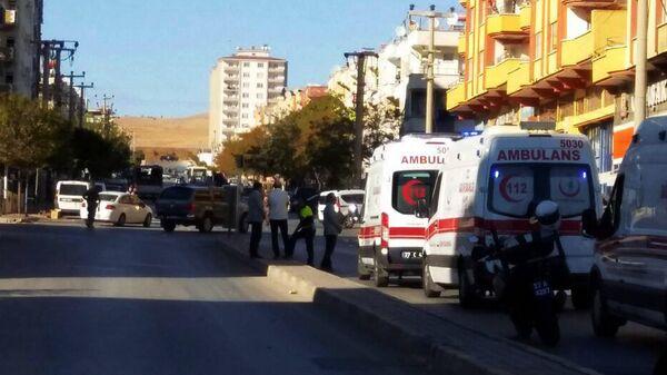 Автомобили скорой помощи в городе Газиантеп, Турция