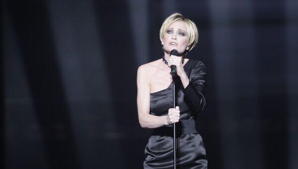 Французская певица Патрисия Каас в финале конкурса Евровидение-2009 в СК Олимпийский