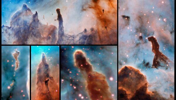 Столпы уничтожения или Столпы Апокалипсиса, найденные астрономами в созвездии Киля