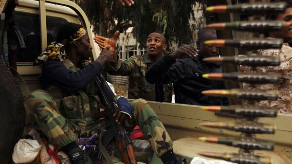 Солдаты ливийской национальной армии в городе Бенгази