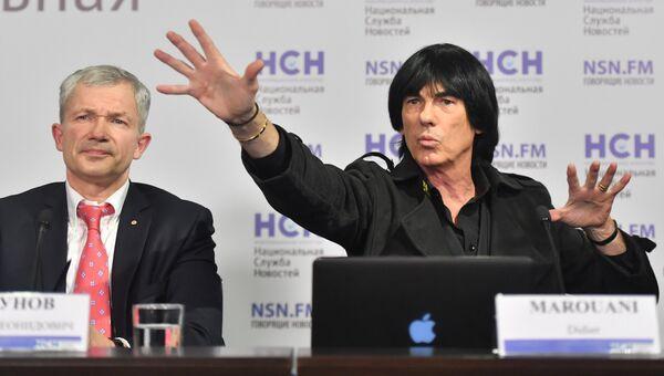 Дидье Маруани и его адвокат Игорь Трунов на пресс-конференции. Архивное фото