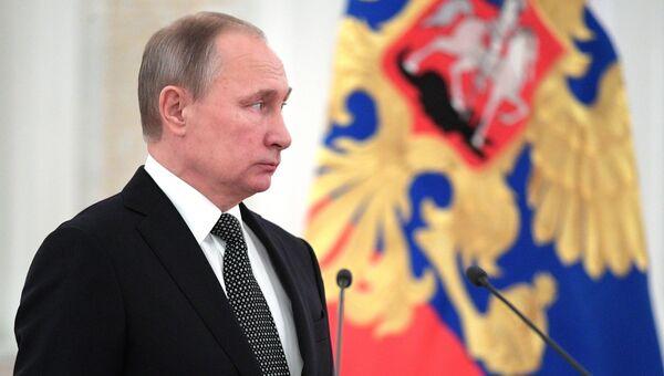 Президент РФ Владимир Путин на встрече с высшими офицерами в Кремле. 7 декабря 2016
