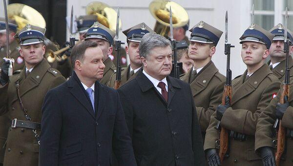 Президент Украины Петр Порошенко и президент Польши Анджей Дуда. Архивное фото
