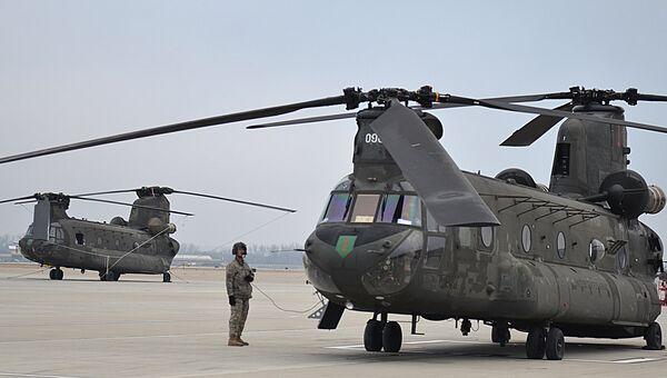 Вертолет Chinook ВВС США. Архивное фото