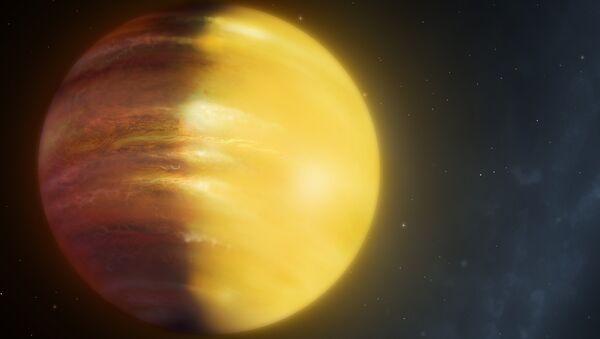 Так художник представил себе планету HAT-P-7b, в атмосфере которой идут дожди из сапфиров