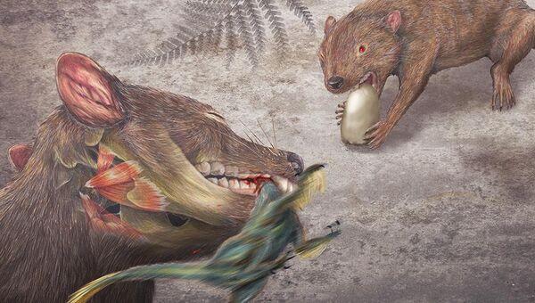 Didelphodon vorax, сумчатый барсук мелового периода