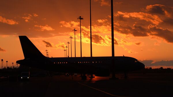 Самолет в аэропорту Адлера