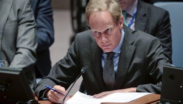 Постоянный представитель Великобритании при ООН Мэттью Райкрофт. Архивное фото