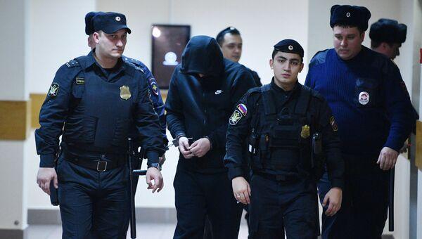 Водитель Mercedes Gelandewagen Александр Шарый в Дорогомиловском суде Москвы. 14 декабря 2016