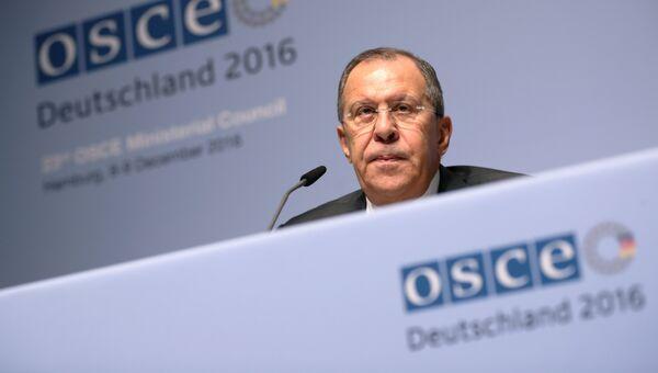 Министр иностранных дел России Сергей Лавров в Гамбурге. 8 декабря 2016 года