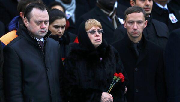 Жена Марина Карлова на панихиде по погибшему послу России Андрею Карлову в Турции
