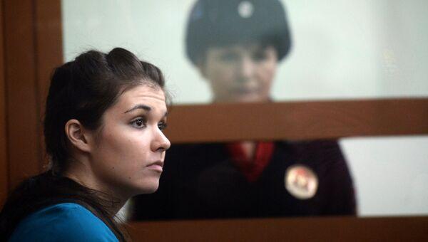 Варвара Караулова в Московском окружном военном суде. 22 декабря 2016. Архивное фото