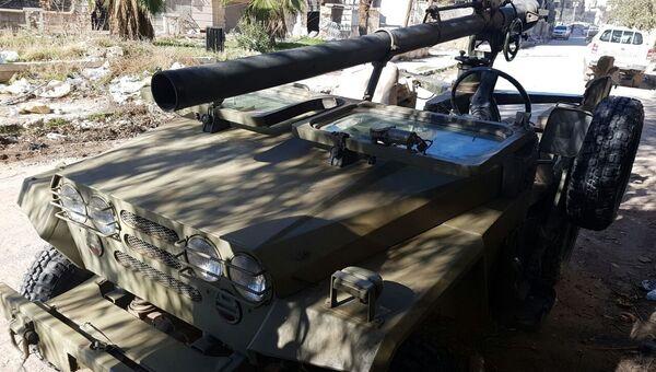 Военная техника в освобожденном квартале восточного Алеппо в Сирии. Архивное фото
