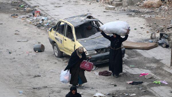 Эвакуация людей из восточного Алеппо до освобождения города. 18 декабря 2016
