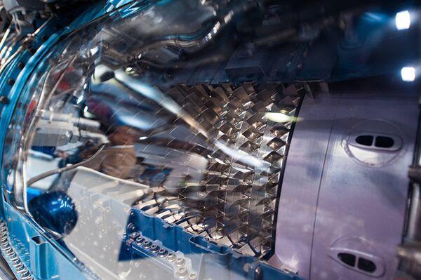 Турбина двигателя, оснащенная инновационными лопатками из интерметаллида титана