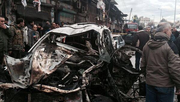 На месте взрыва в сирийском городе Джабла