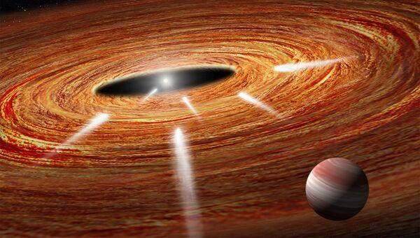 Так художник представил себе кометы, падающие на звезду HD 172555