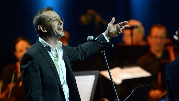 Актер Константин Хабенский выступает на концерте с участием Камерного ансамбля Солисты Москвы