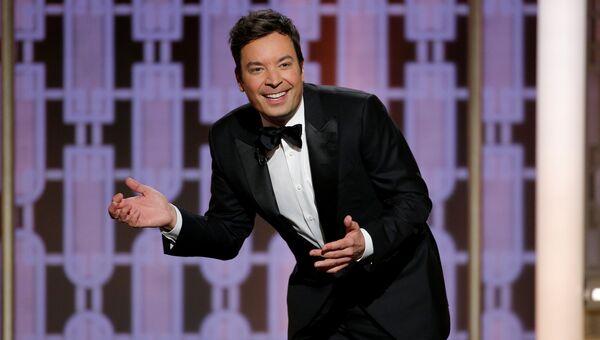 Телеведущий Джимми Фэллон на церемонии вручения премии Золотой глобус. 8 января 2017