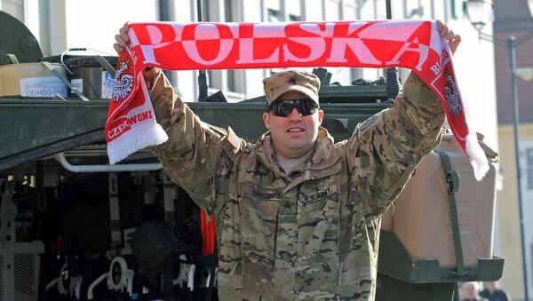 Американский военный в Польше во время учений Атлантическая решимость. Архивное фото