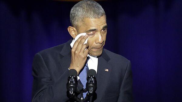 Барак Обама во время прощальной речи в Чикаго. Архивное фото