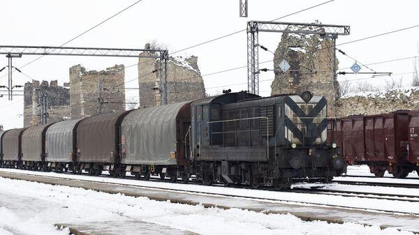 Железнордорожная станция в Сербии