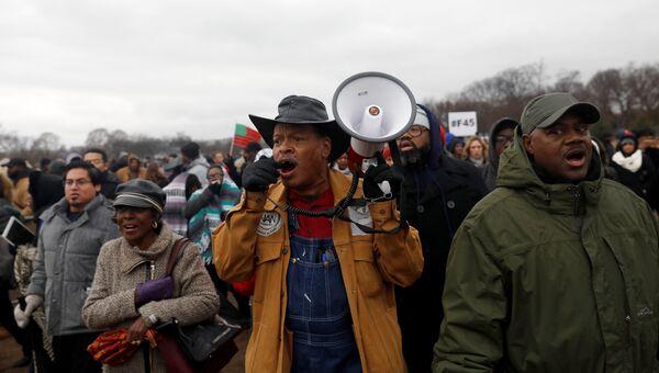 Протесты в Вашингтоне против инаугурации Трампа