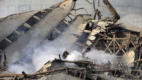 Место обрушения высотного здания Пласко в Тегеране. 19 января 2017