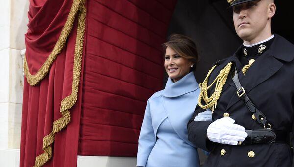 Меланья Трамп прибывает на церемонию инаугурации Дональда Трампа. 20 января 2017