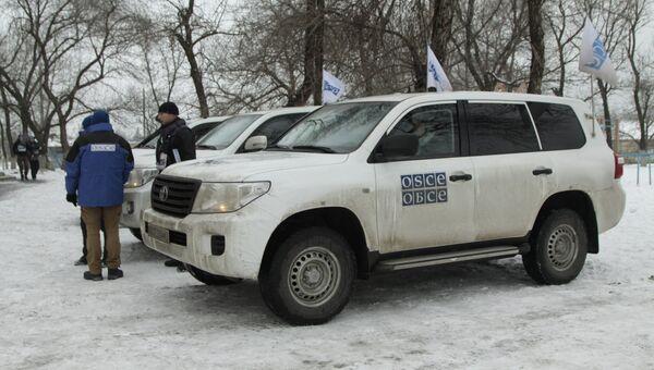 Машины миссии ОБСЕ в Донбассе. Архивное фото