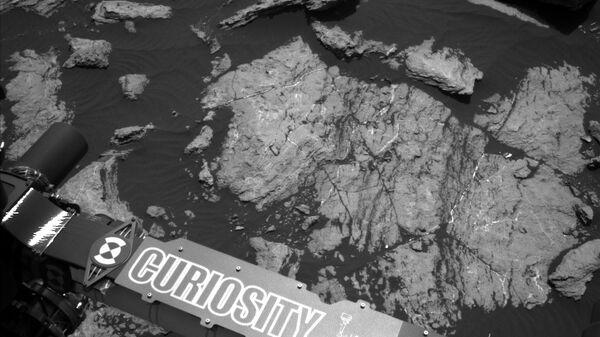 Текущее место стоянки Curiosity на склонах горы Шарп