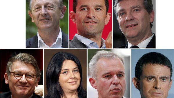 Кандидаты на пост президента Франции от Социалистической партии. Комбинированное фото