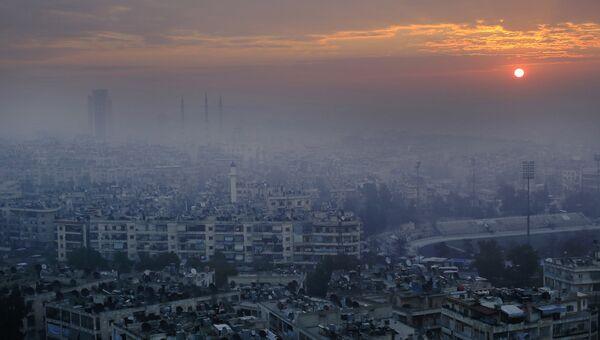 Панорама Алеппо, Сирия. Архивное фото