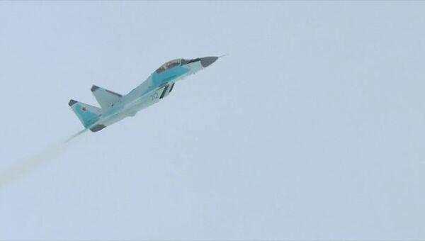 Первый демонстрационный полет новейшего истребителя МиГ-35 в Луховицах