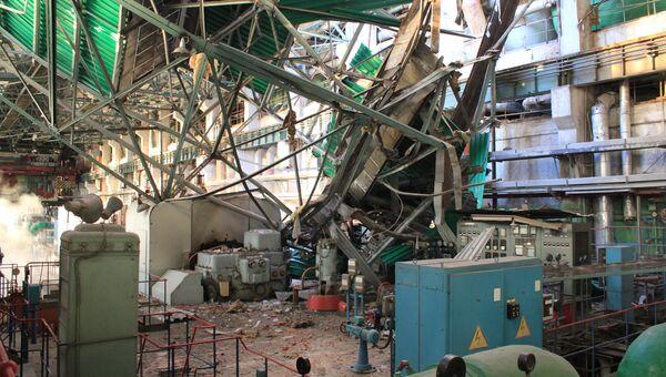 Обрушение кровли в газотурбинном цехе ТЭЦ-1 города Пензы. Архивное фото