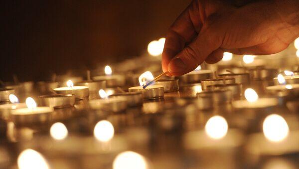 Церемония зажжения свечей. Архивное фото