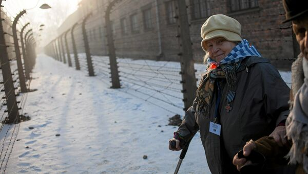Бывшая узница концентрационного лагеря и лагеря смерти Аушвиц-Биркенау. Польша, 27 января 2017