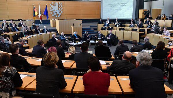 Час поминовения в парламенте Тюрингии, Германия
