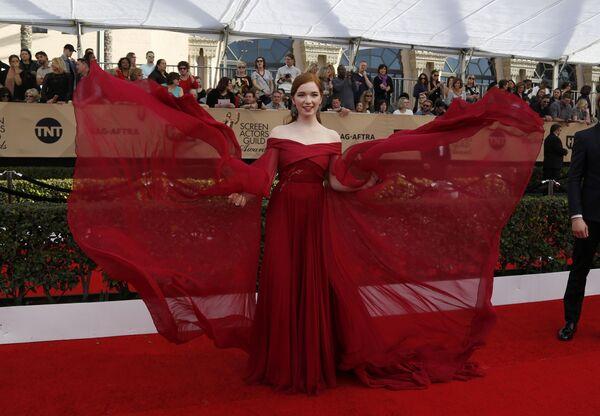 Анналиса Бассо на церемонии вручения премии Гильдии киноактеров США в Лос-Анджелесе