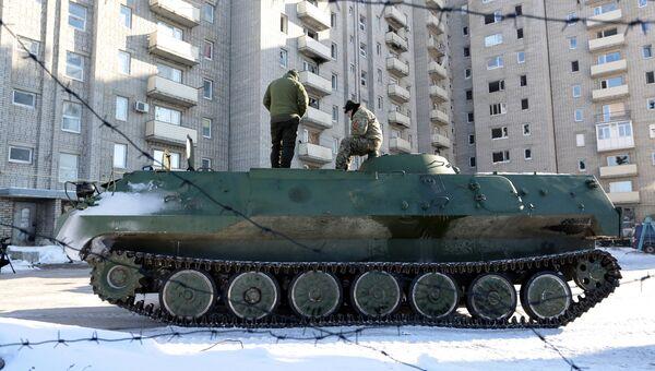 Бронемашина ВСУ в Авдеевке, Украина. 30 января 2017