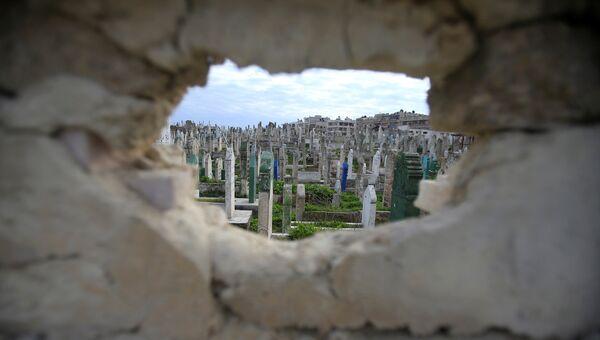 Кладбище в городе Алеппо
